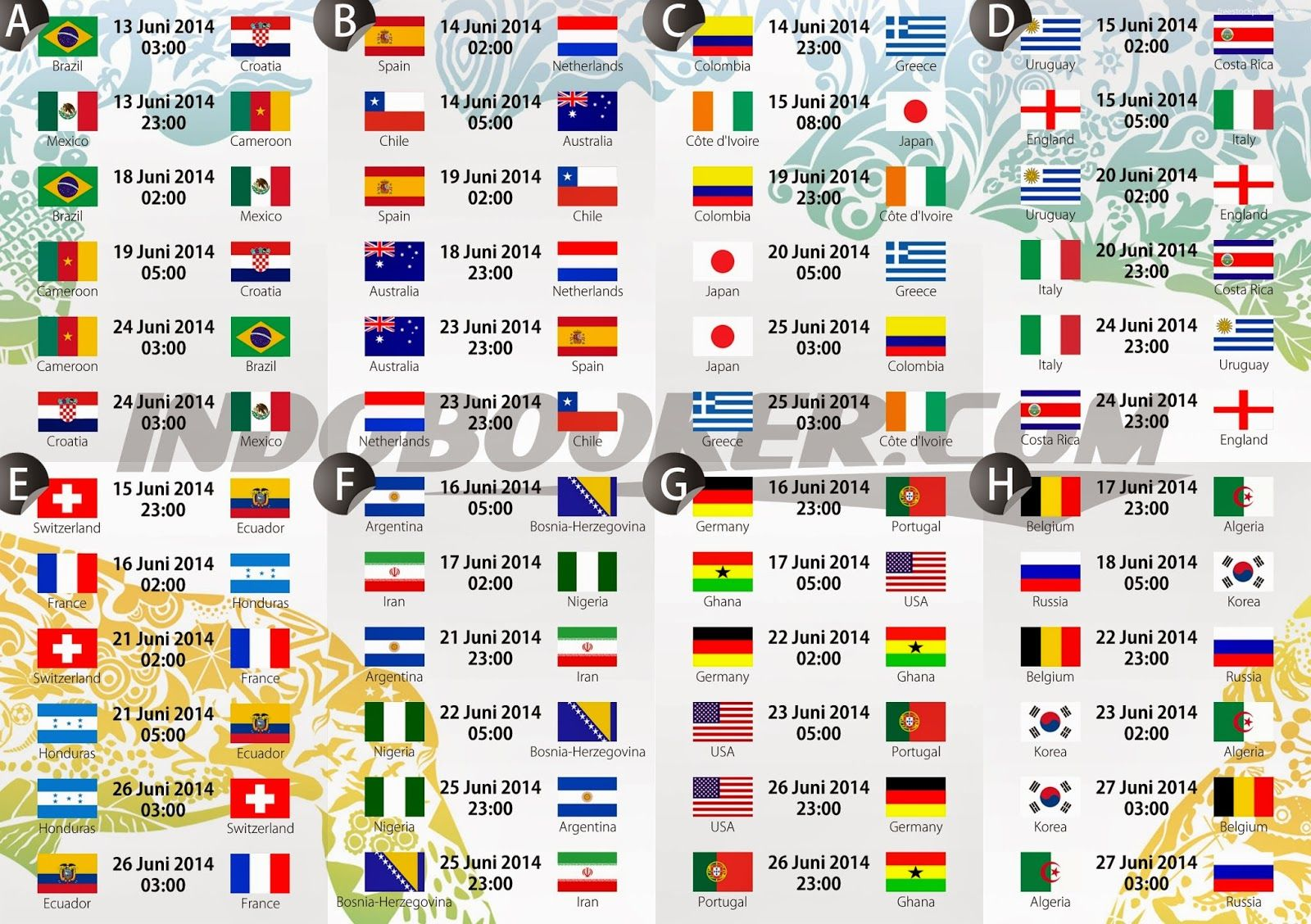 2014 Fifa World Cup Schedule Fixtures Amp Time Table 2 Jpg 1 600 1 128 Pixels World Cup Fixtures World Cup Schedule World Cup Match