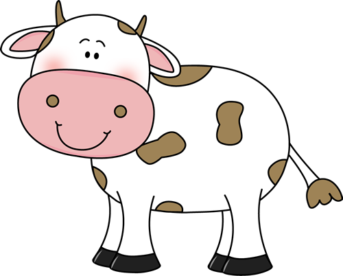 Cow brown. Clip art with spots