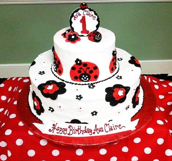 Cake Decorating Ideas Ladybugs : Ladybug Party Ideas Ladybug Cake One Year Old Birthday ...