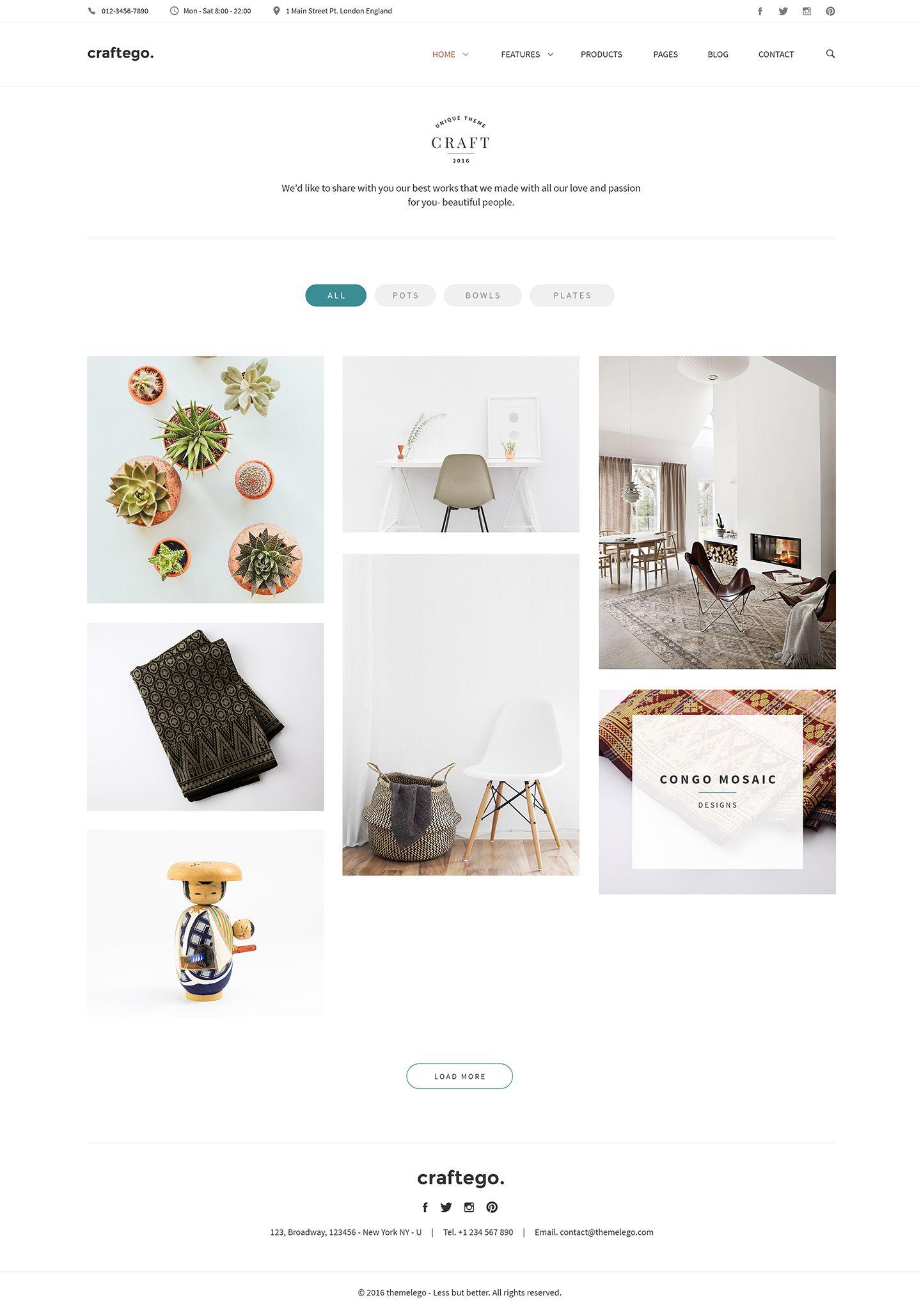 Webdesign Template Portfolio Clean Minimal Modern Design