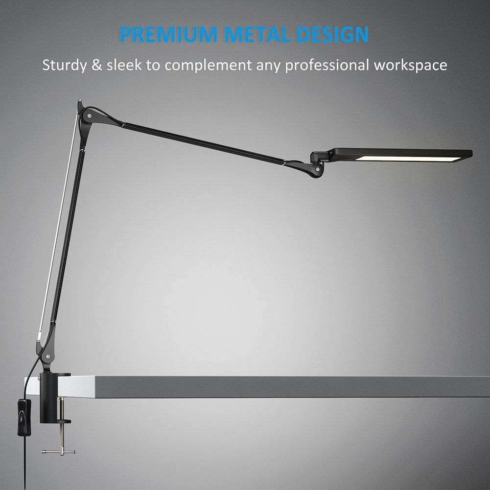 Clamp desk lamp led - Byb E476 Metal Architect Swing Arm Desk Lamp Dimmable Led Task Lamp With Clamp