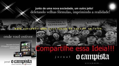 Jornal O Campista realidade e dura.