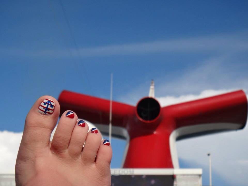 Carnival cruise nail art | Nails | Pinterest | Cruise nails ...