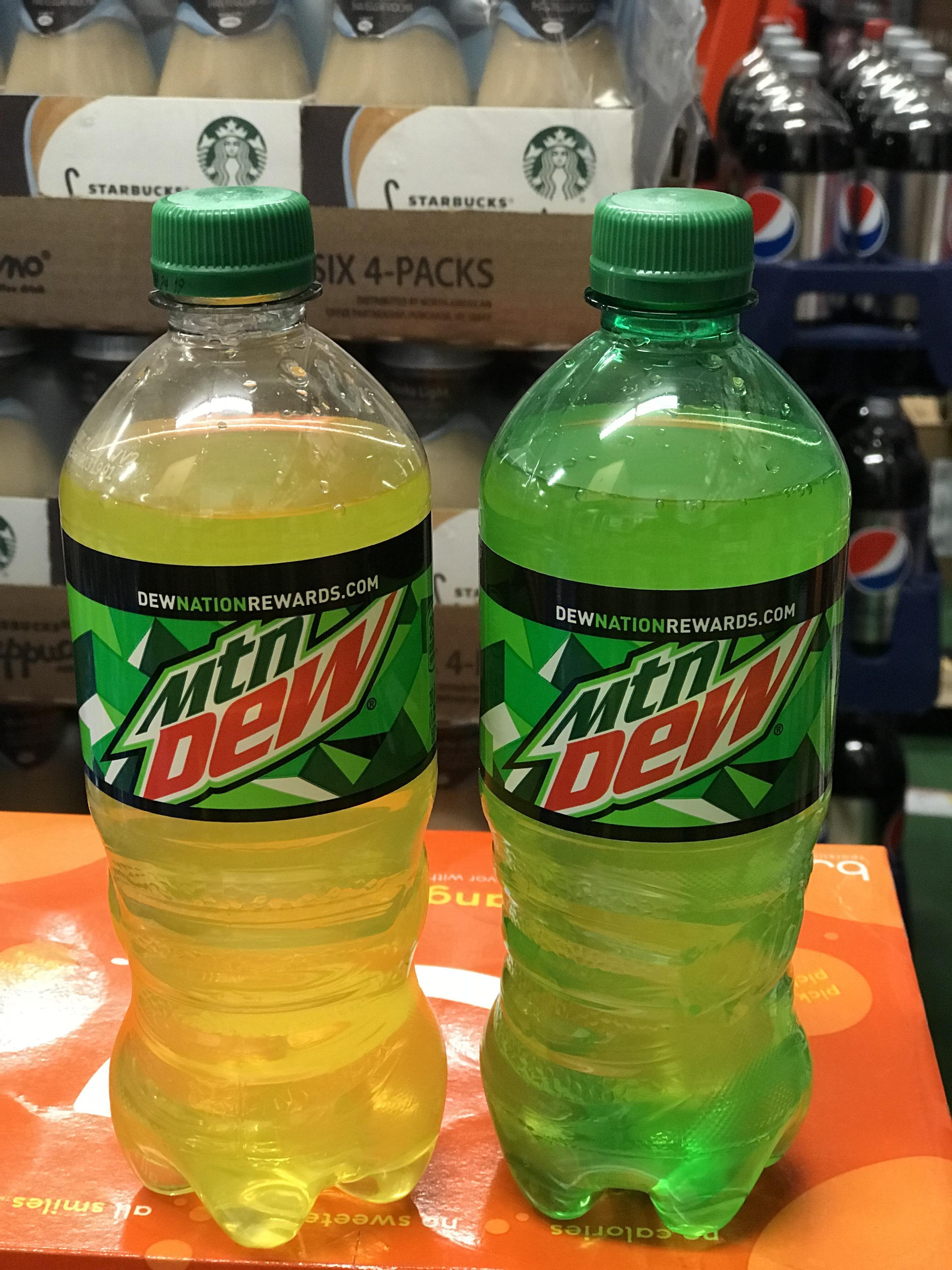 is diet mountain dew a clear liquid