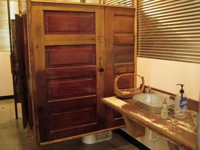 Bathroom stall salvaged doors gatherings pinterest - Commercial bathroom partition doors ...