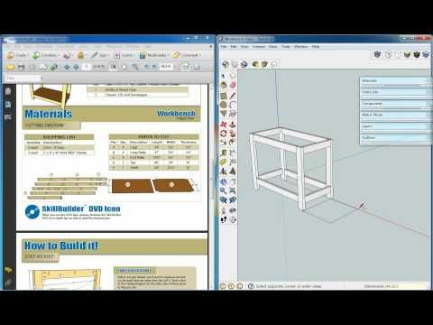 How To Draw Plans With Sketchup Woodworking Plans Beginner