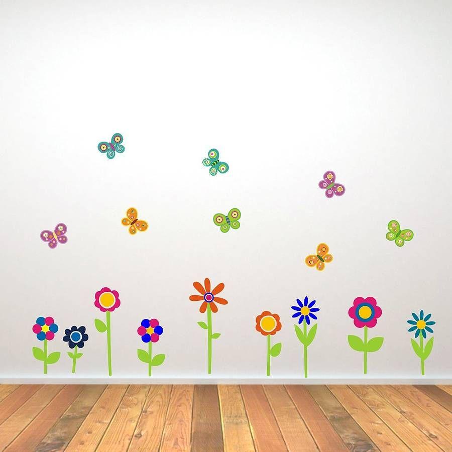 Superb Flowers And Butterflies Wall Stickers By Mirrorin | Notonthehighstreet.com Great Ideas