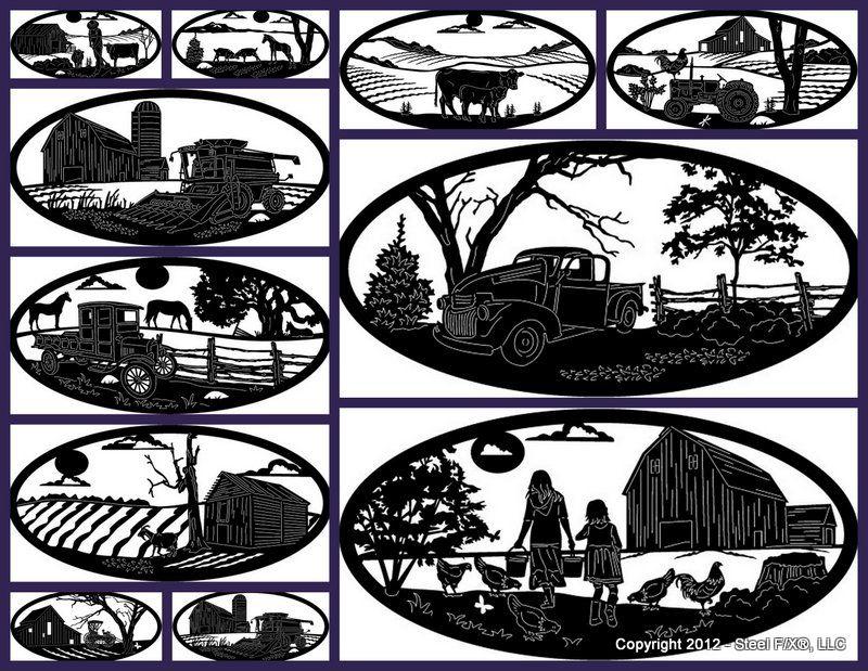 Custom Steel Art Designs Patterns Steel Art Farm Art