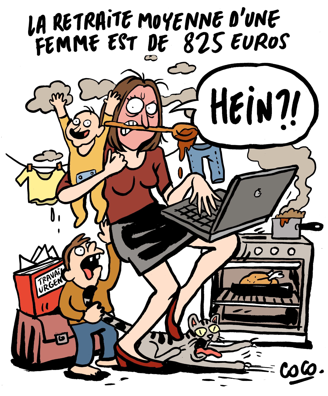 Retraite moyenne des femmes dessin coco femmes women - Dessin travail ...
