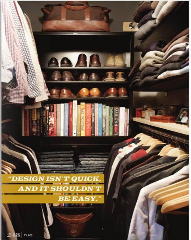 Orderly mens closet