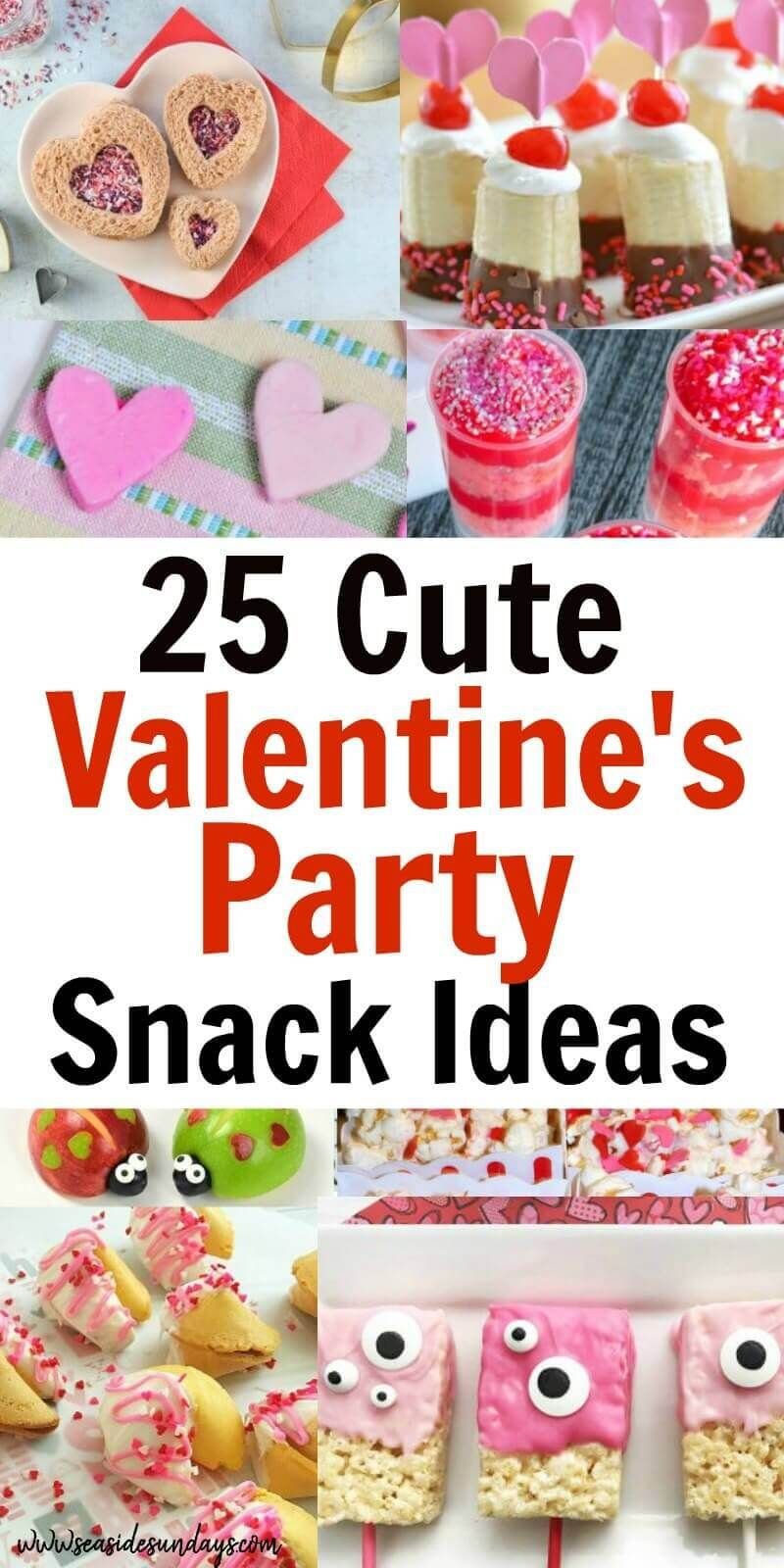 25 Cute Valentine Snacks For The Classroom Valentines Snacks Healthy Valentines Easy Valentines Snacks