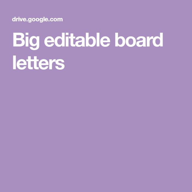 Big Editable Board Letters Classroom Ideas Pinterest Lettering