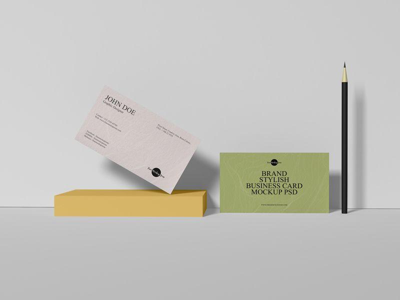 Free PSD Business Card Mockup Design For Branding 2019