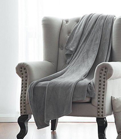 Throw Blankets For Couches Gorgeoushomelinen 1 Silver Gray Small Throw Super Soft Fleece Plush