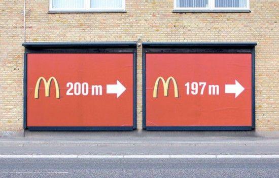 McDonalds... 200m... 197m