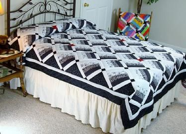 quilt pattern black white twin queen crib