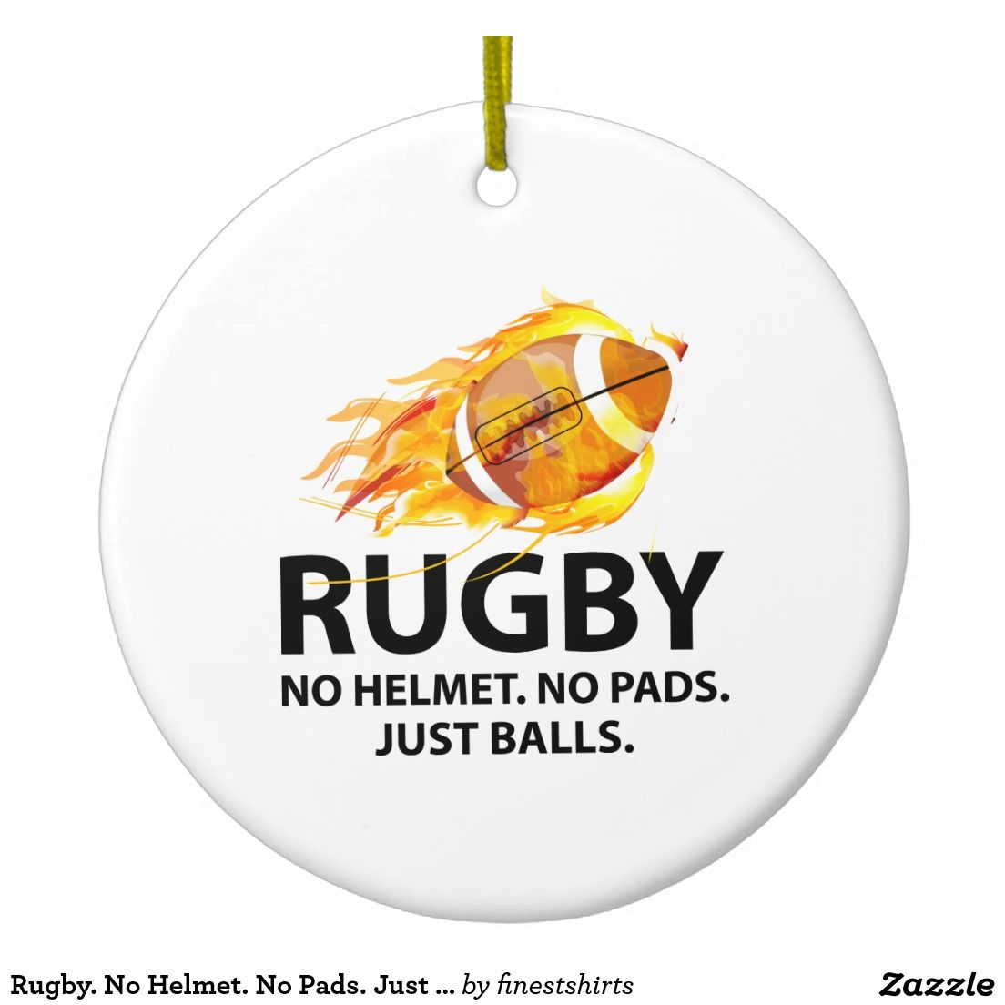 rugby christmas ornaments