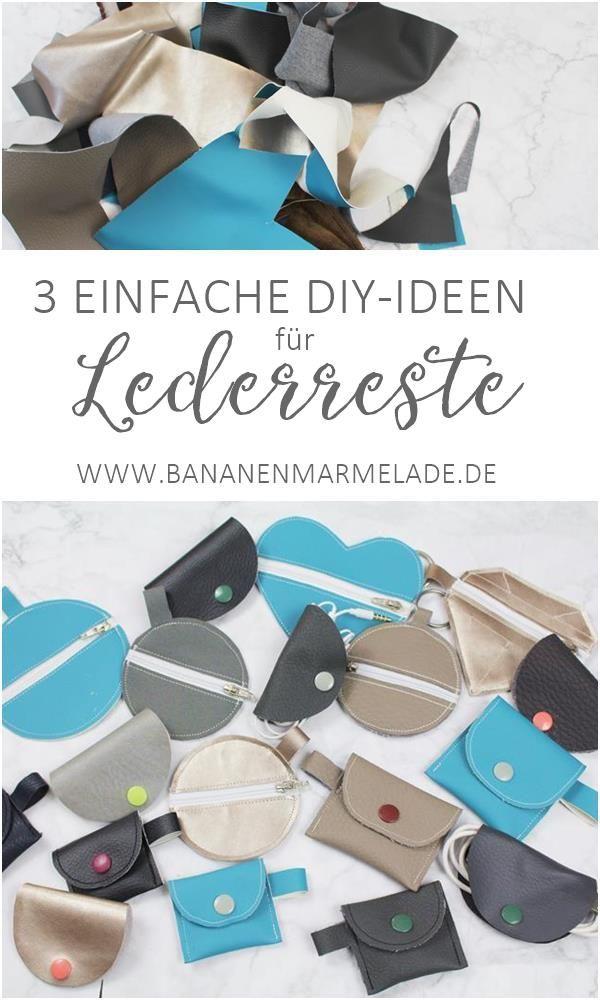 {Nähen} 3 Näh-Ideen für kleine Lederreste – BANANENMARMELADE – Boda fotos