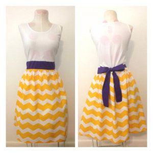 Purple and yellow game day dress