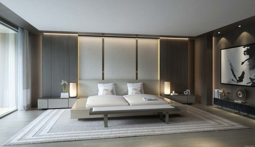 Cool And Simple Bedroom Ideas Large Minimalist Bedroom Design With