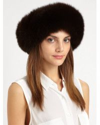 4e0c3aa66c4 Saks Fifth Avenue Collection Fox Fur Headband Collar black - Lyst ...