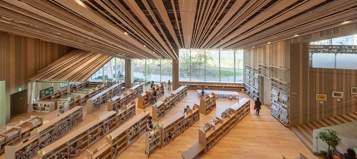 Moriyama City Library 守山市立図書館 家のデザイン 地球に優しい建築 隈研吾