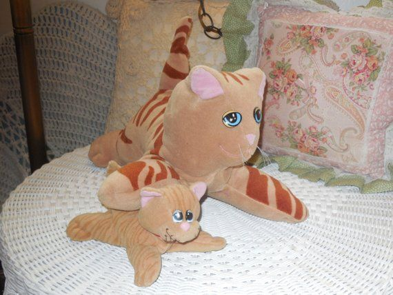 Pound Puppie Mommty Cat and Kitten Stripped Tan Color