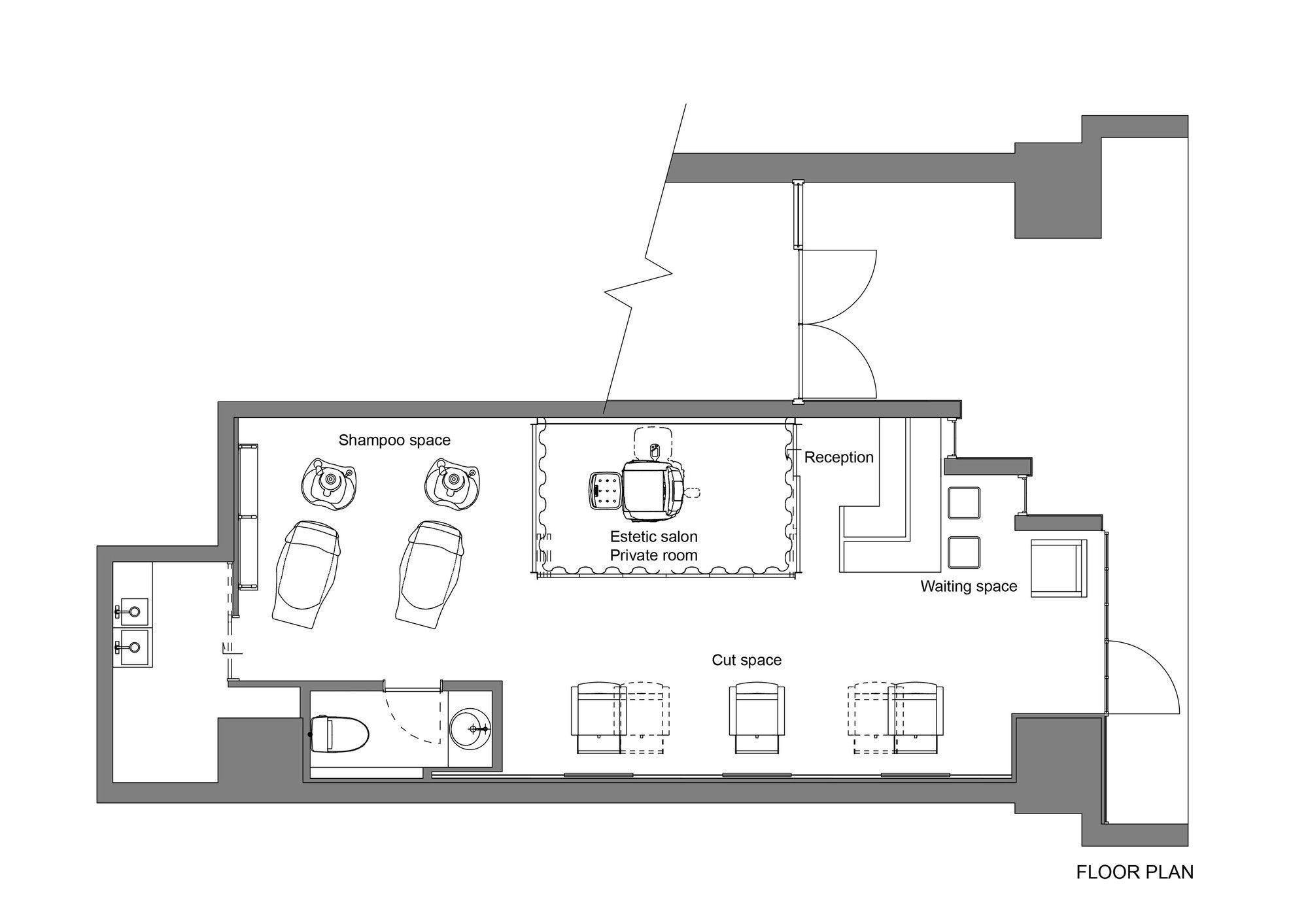 Spa Floor Plan Design  Beauty salon design, Floor plans, Hair