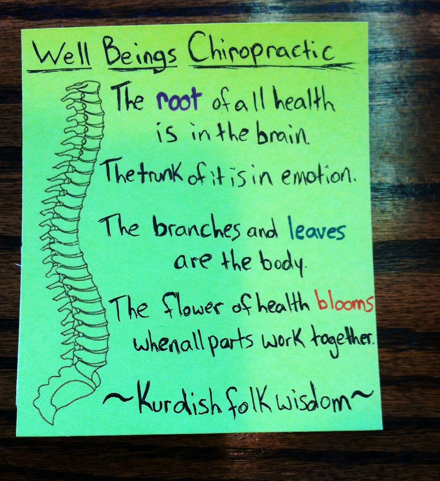 Emotions chiropractic