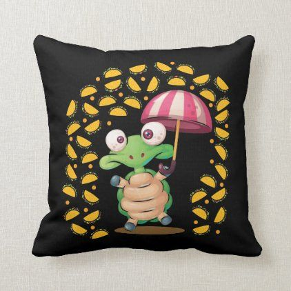 It's Raining Tacos Turtle Mexican Food Lover Throw Pillow