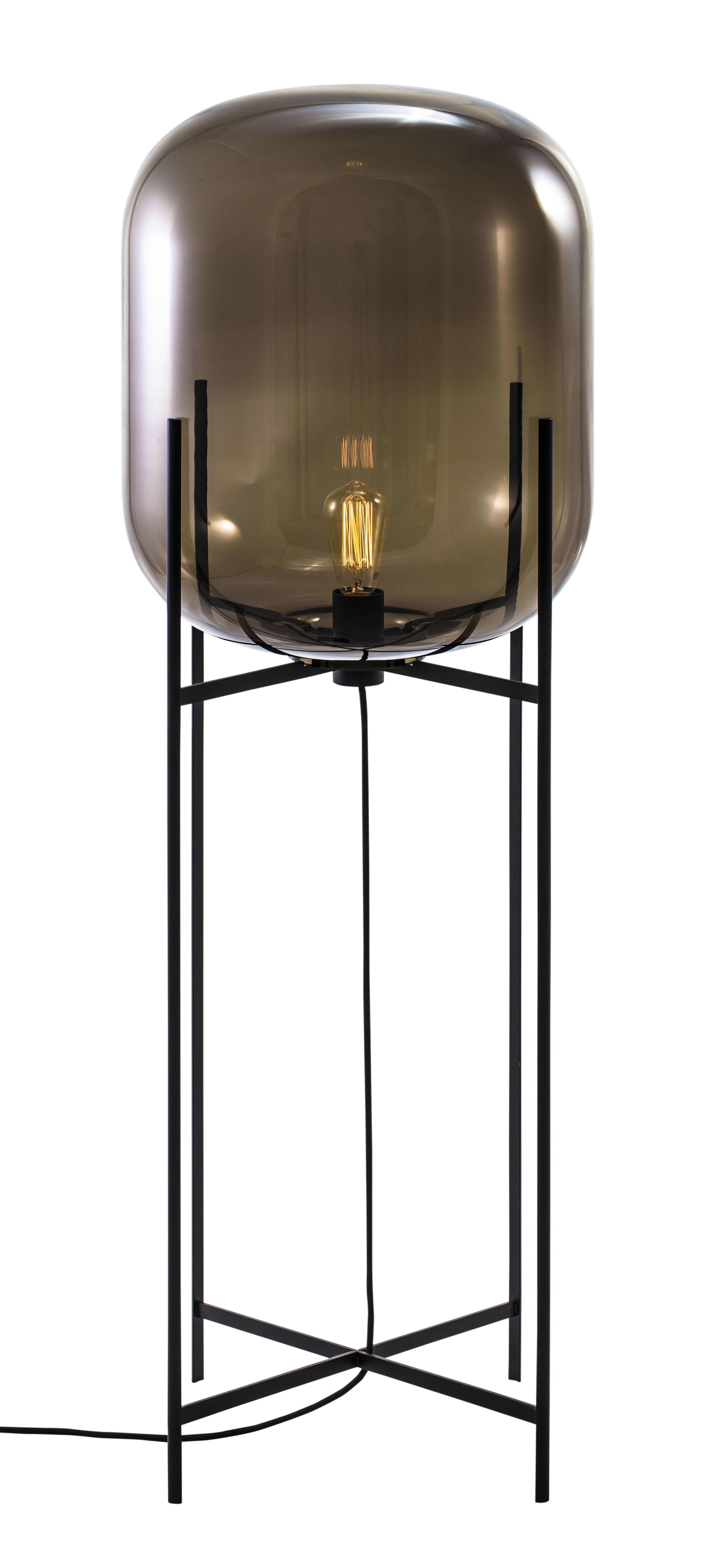 Floor Lamp Oda Big By Sebastian Herkner For Pulpo Materials Colors Smoky Grey Glass Black Powder Coated Floor Lamp Lighting Lamp Table Lamp Lighting