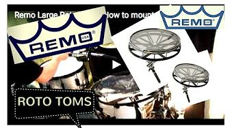 ROTO TOMS  -  HOW TO MOUNT TO A DRUMRACK
