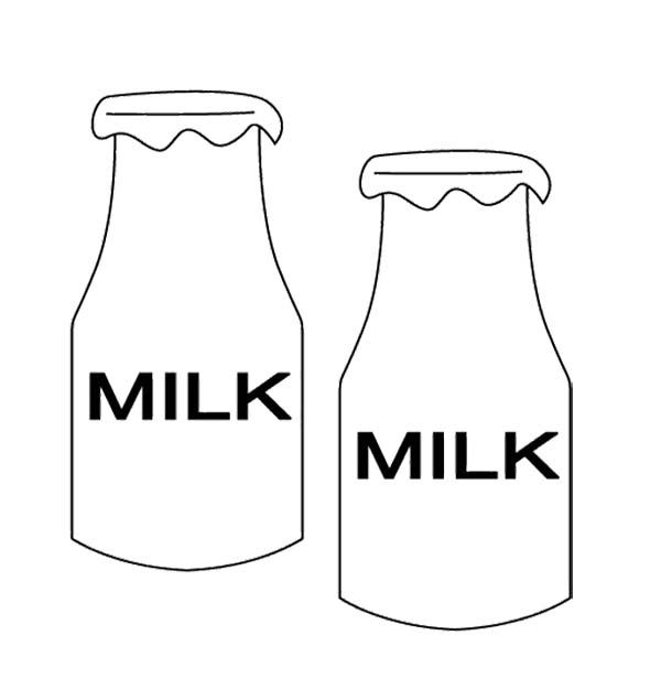 Two Bottle Milk Coloring Page
