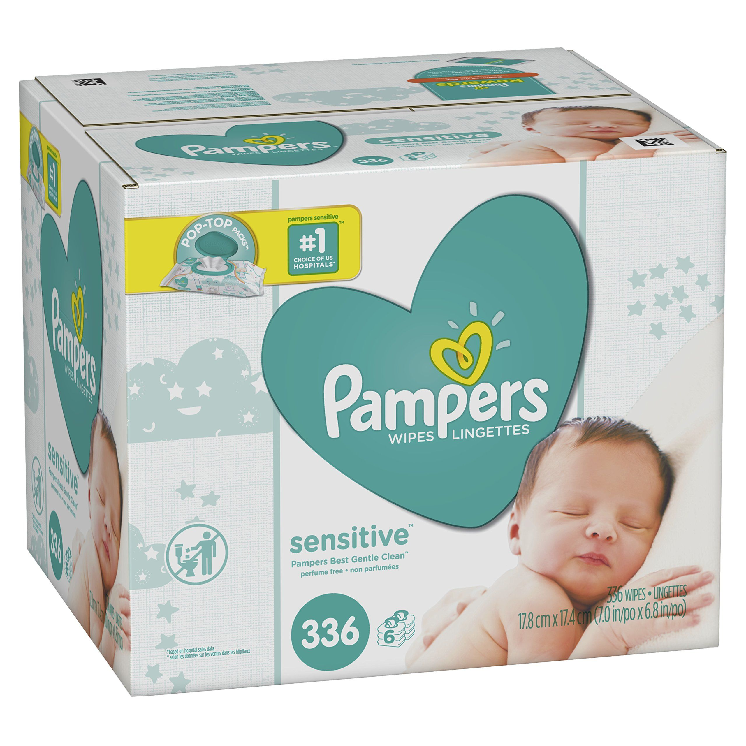 Baby Wipes, Pampers Sensitive Water Baby Diaper Wipes ...