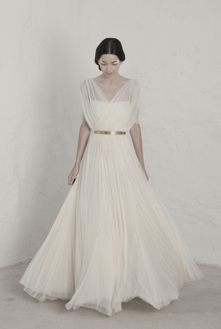 Fortunata dress made out of french silk tulle formal and wedding dress