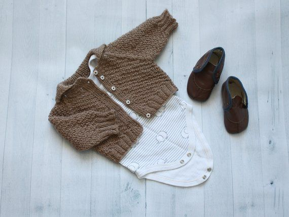 Knit Baby Sweater, Knitted baby clothes, Toddler wool winter coat, Cable knit cardigan baby, Baby ja
