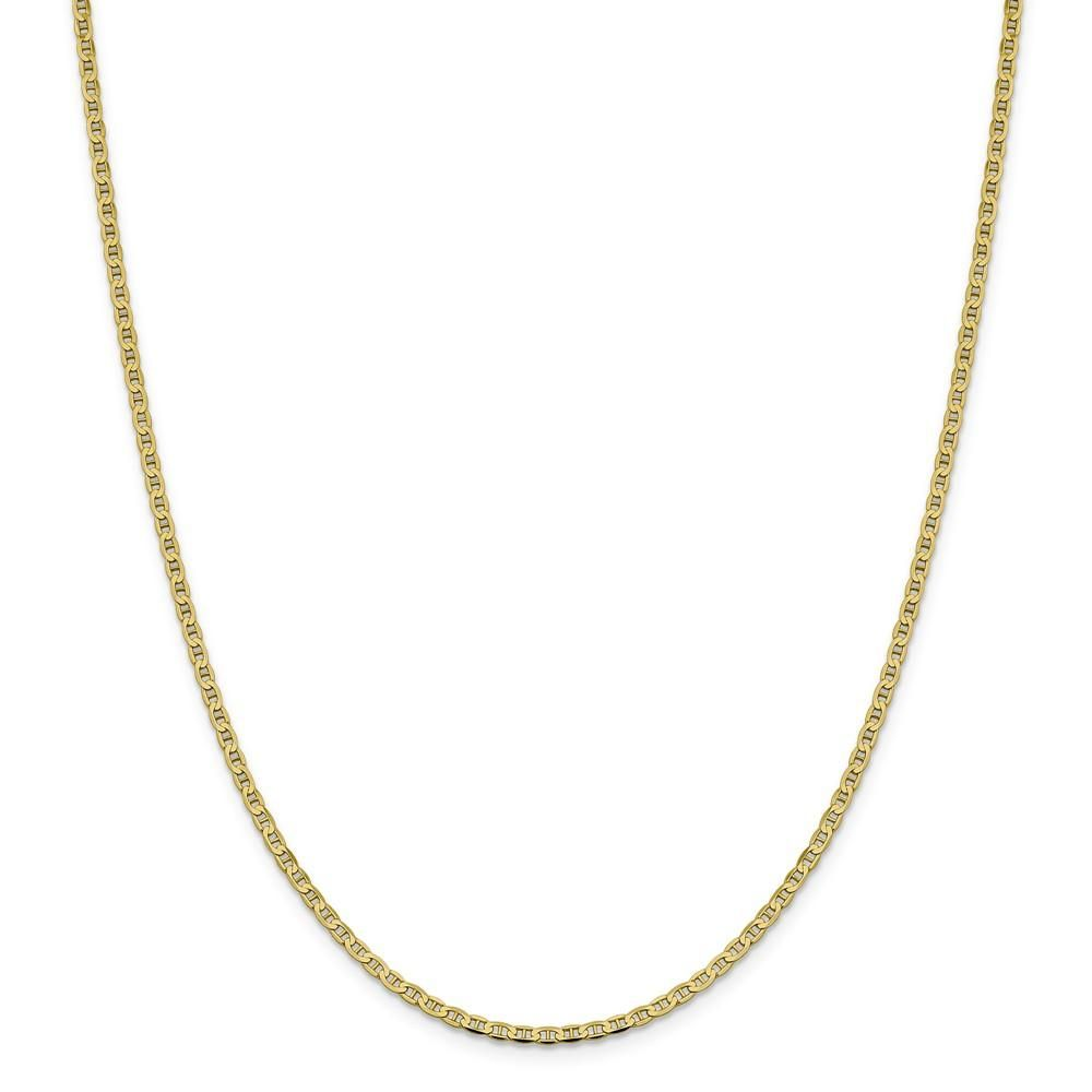 10k Yellow Gold 2 4mm Flat Link Anchor Chain Necklace 20 Inch Pendant Charm Fine Jewelry Gifts For Women For Her Anchor Chain Chain Anklet Fine Jewelry Gift