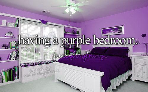 Having a purple bedroom
