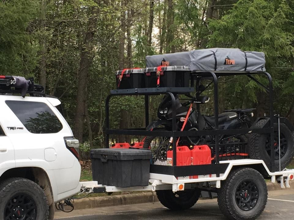 Nice Example Of Setting A Utility Trailer Cross Bars And Rack Up The Tall Multi Sport Trailer Rack Wo Motorcycle Camper Trailer Kayak Trailer Overland Trailer