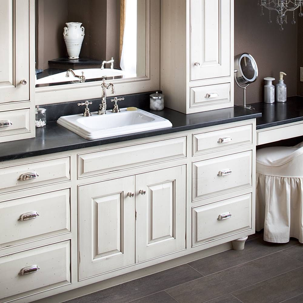 Traditional Painted Cabinets Bathroom Countertops Diy