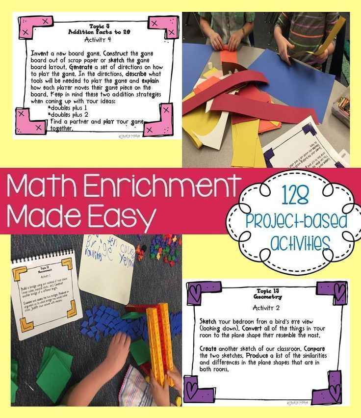 Math Project-based Learning & Enrichment Common Core State