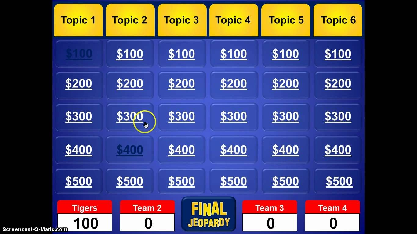 jeopardy powerpoint template 4th grade general