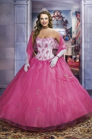 Princess Look Boned White Bodice for Quinceanera Dress with Exquisite Applique