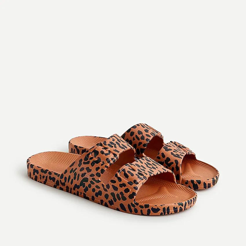 J Crew Freedom Moses Leopard Print Slides For Women Women Slip On Sandal Leopard Print