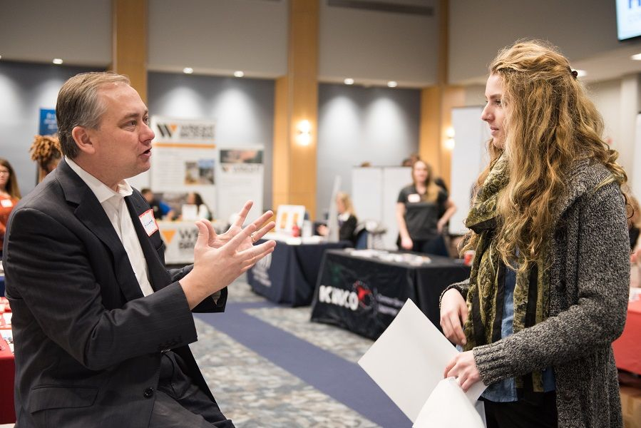 Students meet prospective employers at Spring Career Day