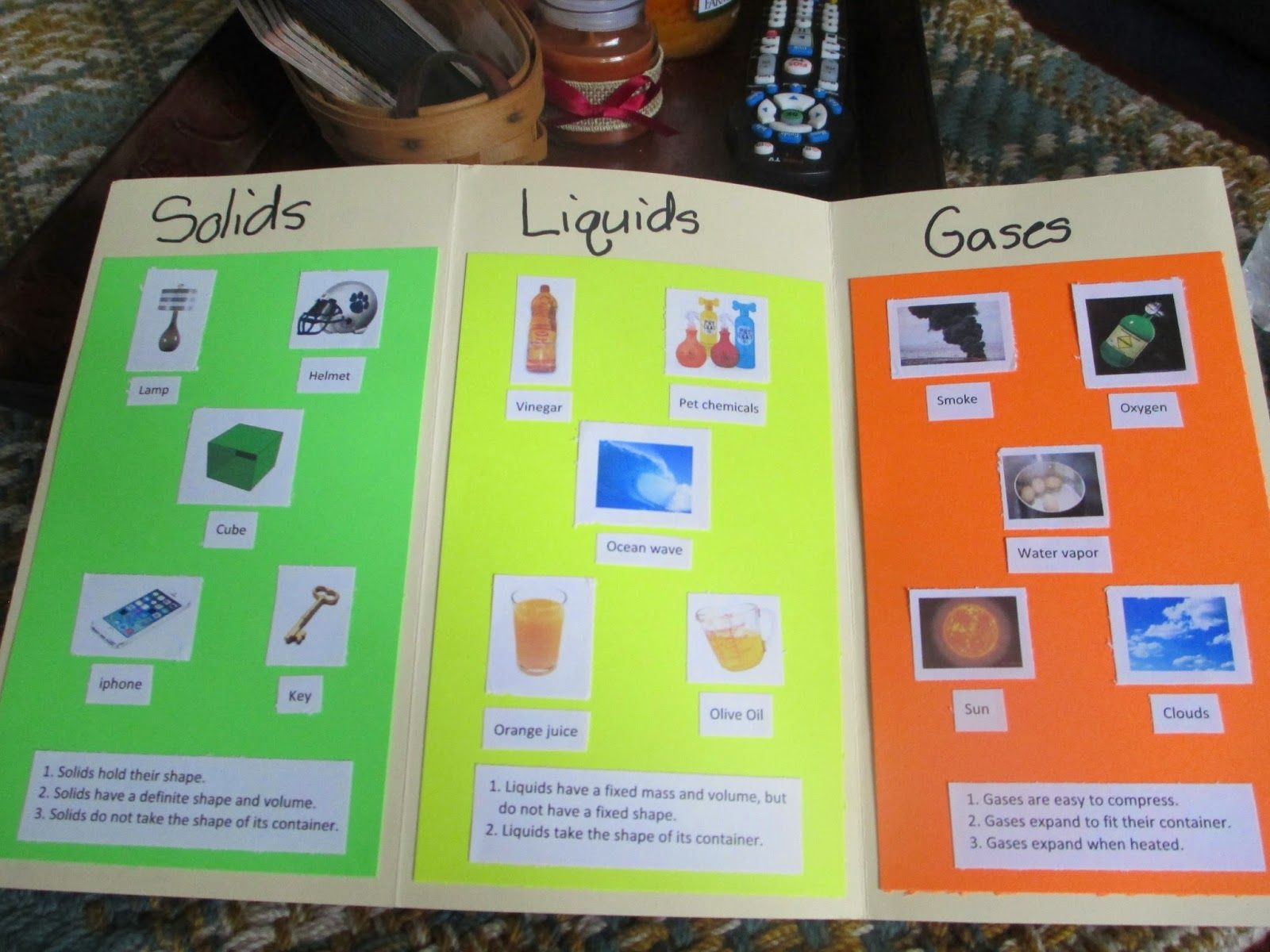 States of Matter Gases Project