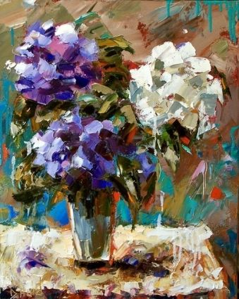 Flower In Vase Painting Art Floral By Debra Hurd By Artist Debra