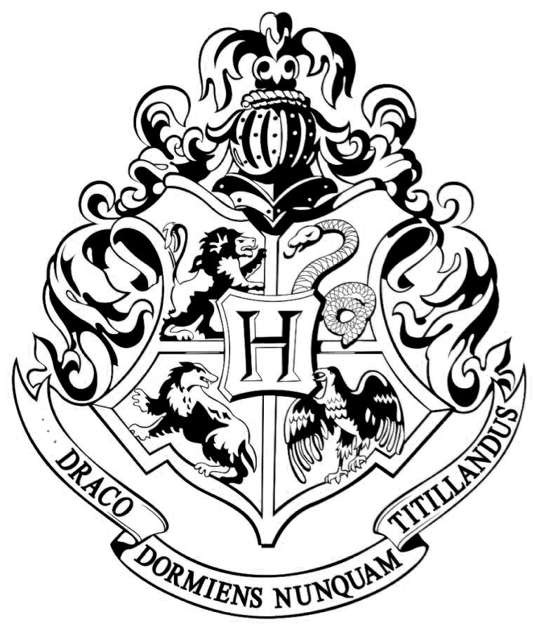 harry potter badge coloring pages | Pin by Erica Templeman on Harry Potter Universe in 2019 ...
