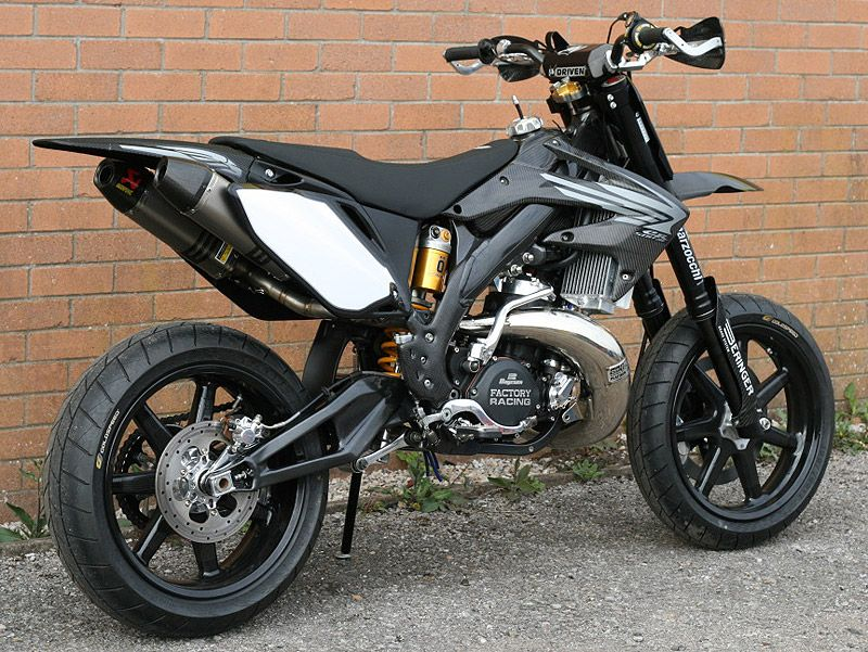 Extremely tasty CR500 supermoto. Ideal street bike for a girl that ...