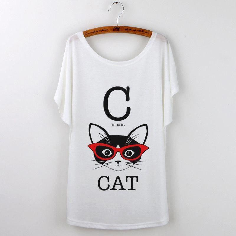 c49b2b36c0 Camisetas Mujer Black Cat Retro Print Tshirt Women Tops Harajuku ...